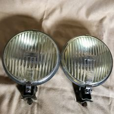 Raydyot fog lights with yellow mirror - England circa 1968