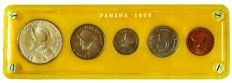 Panama - 5-Coin Type Set 1966 in custom holder