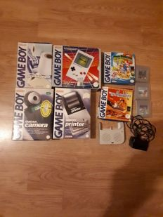 Rare complete gameboy set Including printer and camera and games - boxed