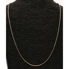 14 kt Yellow gold snake link necklace - Length: 45 cm