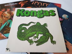 VA LP Albums of Electronic Disco like Kongas and Donna Summer.