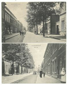 Lot with postcards of Dordrecht, 122x