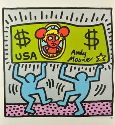 Keith Haring (after) - Andy Mouse & Monkey Puzzle