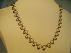 Antique silver necklace in geometric design from the Bauhaus era
