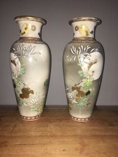 A pair of Satsuma vases - Japan - Early 20th century