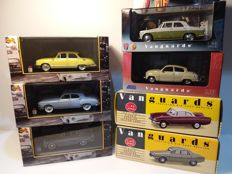 Vanguards / Nostalgie - Scale 1/43 - Lot with 7 models: Saab, Renault, Simca, Panhard, Rover, & Ford