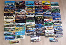Collection with 61 trucks / advertising trucks 1/87 of approx. 1980 to 2004 and mint condition in original package