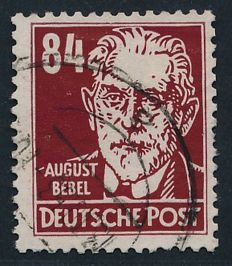"GDR of East Germany – 1952 – personality, 84 Pf. In the colour ""brownish red"" Michel 341 vbXII with photographic certificate Mayer BPP"