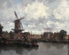 G.J Delfgaauw (1882-1947) - Harbour view