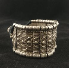 Antique silver bracelet - Rajasthan (India), mid 20th century