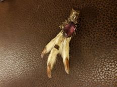 Vintage grouse foot claw brooch