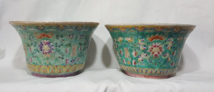 Pair of porcelain vases - China - early 1900s
