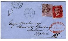 Great Britain 1859 - Registered Cover, Southampton to London