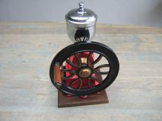 Cast iron and chrome counter coffee grinder