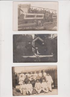 very good lot of 44 photo cards, 75% of the 1900s to 1940