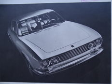 "1968 - OSI ""20M TS"" - 2,3 V6 Ford engine - Original oversize sales brochure"