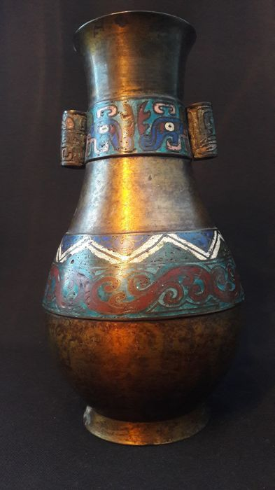 Bronze Champlev Vase 24 Cm Japan Early 20th Century Catawiki