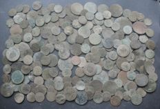 Poland - Lot of coin from XVII-XIX century Polish territories (225 pcs)
