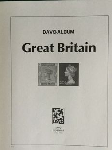 Great Britain - Collection in 3 Davo albums in couvert