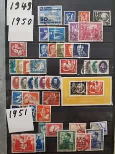 GDR 1949/1990 – complete collection in an album (hallmarked)