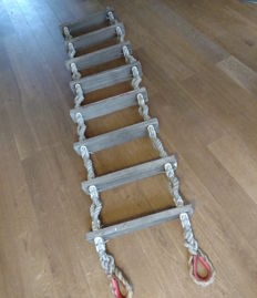 Authentic ship's ladder - boat ladder - 241 cm in length