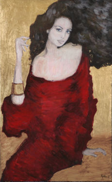 Edward Rychter - Lady in red