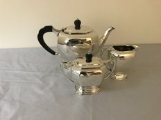 Three-piece silver tea set - James Dixon & Sons - Sheffield - 1939