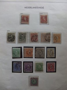 Dutch East Indies 1870/1948 - Collection on old album sheets