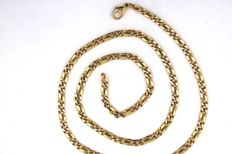 Double byzantine chain in 585  / 14 kt yellow gold - solid - length 50.5 cm