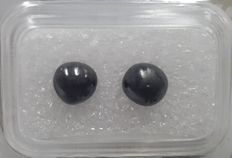 Cts. 3.40, Couple of Diamond Pearls (Semi Round), Black and Very Unique