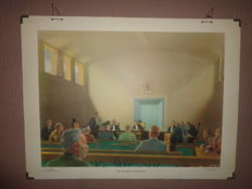 """Beautiful old school poster """"In Court"""""""