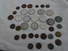World - Lot of 36 coins - including silver