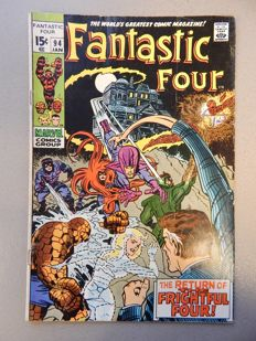 Marvel Comics - Fantastic Four #94 - with 1st appearance of Agatha Harkness - 1x sc - (1970)