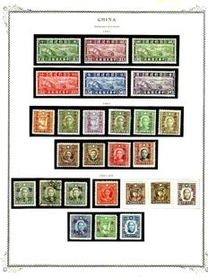 China 1915/1942 - Collection on Scott Pages