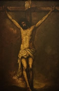 Spanish school (19th century) - Cristo crucificado