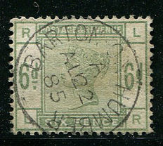 Great Britain 1883/84, queen Victoria - 6 pence dull green, Stanley Gibbons 194