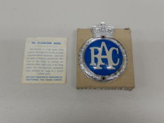 "Original Vintage RAC Royal Automobile Club Plastic and Aluminium 1954 - Late 1960 Approx 4.25"" x 3.25"""