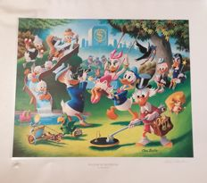 Barks, Carl - Lithograph - Regular edition - Holiday in Duckburg (1989)