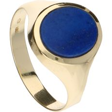 14 kt Yellow gold ring set with a lapis lazuli - Inner size 2.69 grams