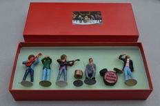 very, very, rare set of Rolling Stones miniature tin figures