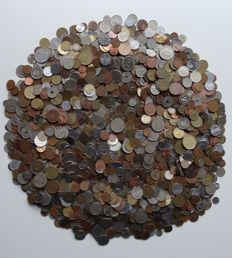 World - Selection of coins, unsorted - 8.6 kg in coins