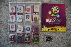 Panini - Euro 2012 Empty Album + Complete Set of Stickers + Poster + 6 extra stickers