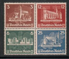 Germany 1935-62, batch with different individual stamps or heart pieces of better blocks