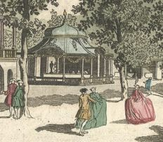 Optical Vue of Vauxhall Gardens, London, from the entrance - La Vue de la Grande Allée du Jardin de Vauxhall prise de l'Entrée
