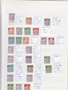 """France 1920/1930 - selection of """"Caisses d'Amortissement"""" with variations and various ones signed by Calves."""