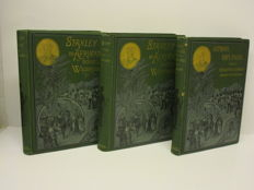 Africa; H.M. Stanley - In Afrikas donkere wildernissen - 3 volumes - without year (±1890)