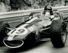 1968 Monaco Grand Prix  Dan Gurney Eagle   Michael Hewett original photograph