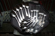 Christofle Silver plated set spoons and forks