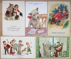 Lot consisting of 120 postcards with dogs - very beautiful collection - batch with 120 cards Dogs