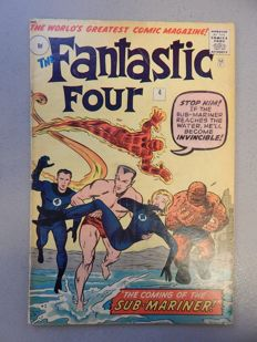 Marvel Comics - Fantastic Four #4 - With 1st Silver Age appearance of Sub-Mariner - 1x sc - (1962)